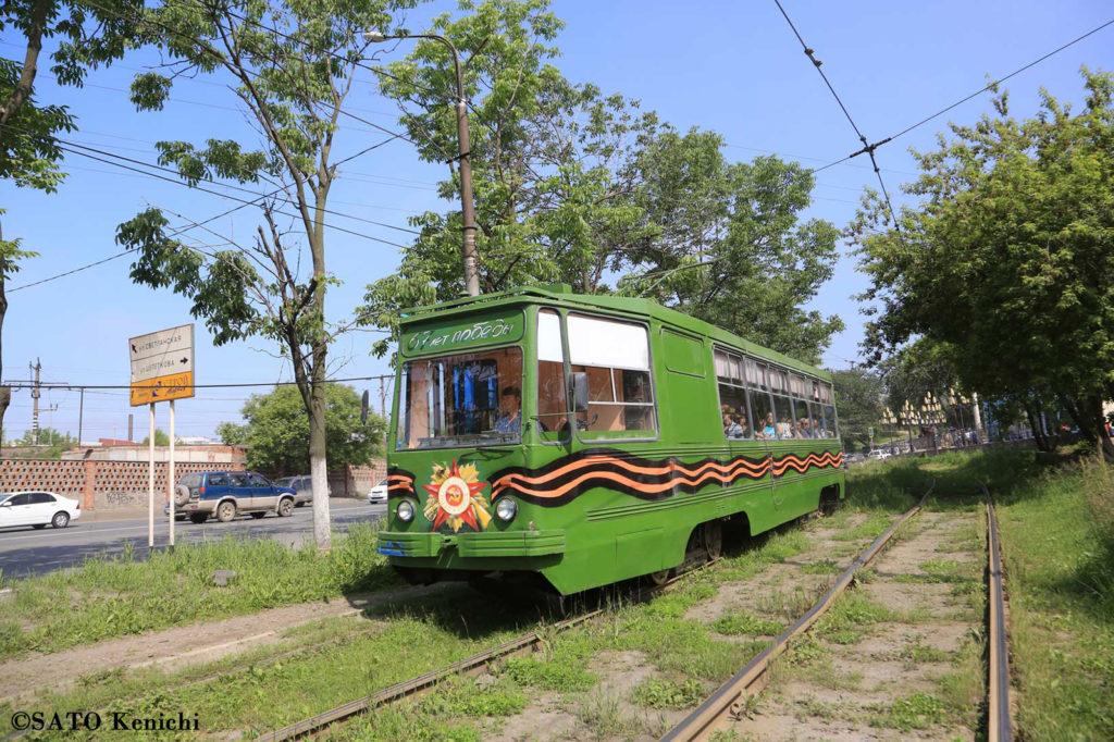 035 ウラジオストク市内を走る路面電車 その2