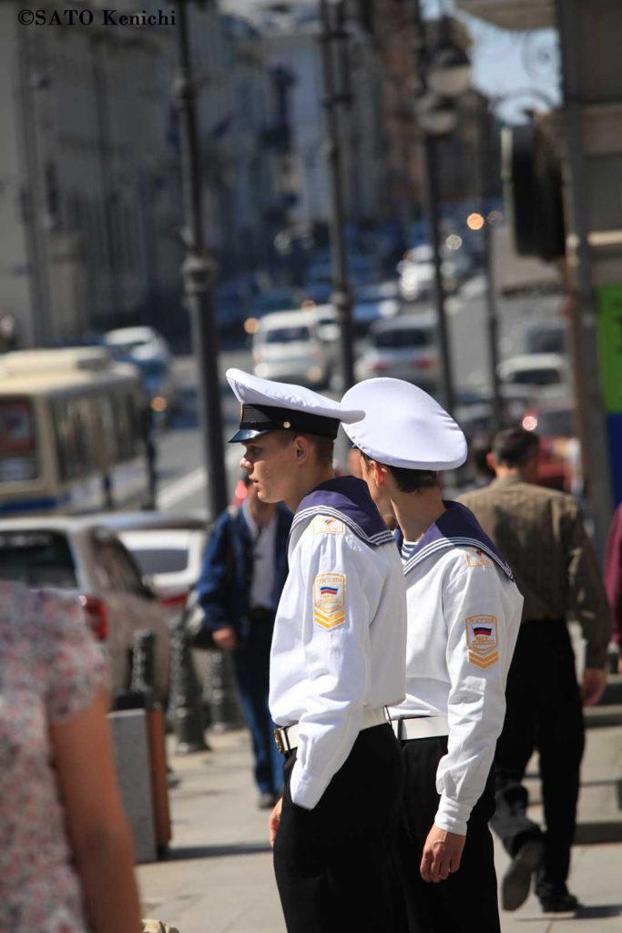 021 ウラジオストクで見かけた水兵さん